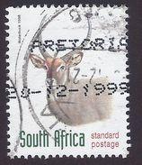 1998 - Waterbuck (Kobus Ellipsiprymnus) - Yt:ZA 998 - Used - Sud Africa (1961-...)