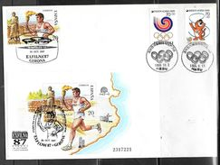 1988 Seoul Olympic Stamps On Spain Philatelic Show Cover - Summer 1988: Seoul