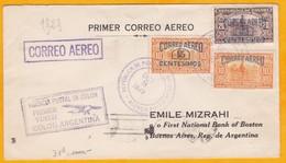 1929 - Enveloppe Par Avion Précurseur De Colon, Panama Vers Buenos Air, Argentine - 1er Vol  - Cad Arrivée - Panama