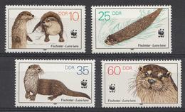 Allemagne DDR 1987  Mi.nr.: 3107-3110 Weltweiter Naturschutz WWF  Neuf Sans Charniere /MNH / Postfris - [6] République Démocratique