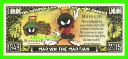 BILLETS - ONE MILLION DOLLARS, THE UNITED STATES OF AMERICA - WHERE'S THE KABOOM ? -  MARVIN THE MARTIAN - - Non Classés