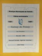 4512 - Musique Municipale De Versoix 10e Anniversaire 1981-1991 Gamay De Peissy - Musique