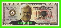 BILLETS - ONE MILLION  DOLLARS, THE UNITED STATES OF AMERICA - TEDDY KENNEDY - TEDDY, JACK AND BOBBY - - Etats-Unis