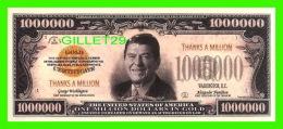BILLETS - ONE MILLION DOLLARS, THE UNITED STATES OF AMERICA - DONALD REAGAN -  SERIES OF G 2009 - - Etats-Unis