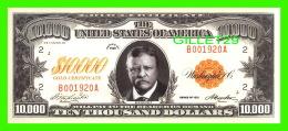 BILLETS - TEN THOUSAND DOLLARS, THE UNITED STATES OF AMERICA - ROOSEVELT - SERIES OF 1920 - Etats-Unis