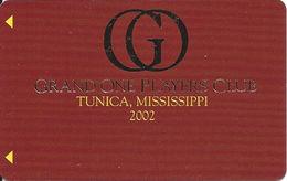 Grand Casino Tunica MS - Slot Card - BLANK 2002 Grand One Players Club - Casino Cards