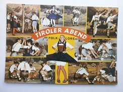 Postcard Tiroler Abend Folklore Costume Dance Music Lederhosen Tirol Tyrol Austria Multiview My Ref B21520 - Folklore