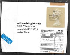 """2011 Great Britain Elizabeth """"A"""" To USA On Large Envelope (approx. 8-1/2""""x6-1/4"""") - Covers & Documents"""