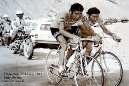 Tour De France 1975 Étape Nice - Pra-Loup Eddy Merckx Et Felice Gimondi - Carte Photo Moderne - Cyclisme