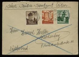 WW II GG Generalgouvernement Hitler Polen Dienstpost Briefumschlag : Gebraucht Alter Stempel Tomaszow Lubelski - Reich - Briefe U. Dokumente
