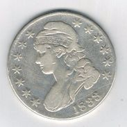 USA , Half Dollar 1833, Used Silver Coin,  See  Both Scans. RARE. - Federal Issues