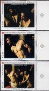 SMOM - Sovereign Military Order Of Malta - 2010 - Caravaggio - Flagellation Of Christ - Mint Stamp Set - Malte (Ordre De)