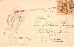FIUME ( Croatie ) -  TIMBRE 30.X.1918 - U1U  + Commission Censura Postale Militare - Croatia