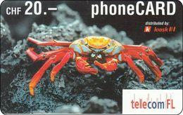 Lichtenstein  Phonecard  Fish Krebs - Liechtenstein
