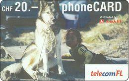 Lichtenstein  Phonecard  Hund Dog - Liechtenstein