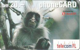 Lichtenstein  Phonecard  Affe Monkey - Liechtenstein