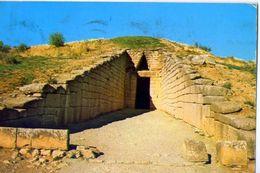 Mykene - Eingang Zum Tholosgrab - Schatzhaus Des Atreus - Formato Grande Viaggiata - Grecia
