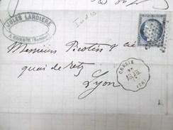 Lettre Avec Cérès N° 60 TAD Convoyeur Station Corbie étoile Muette 1875 - Marcophilie (Lettres)