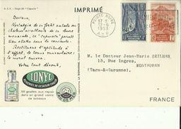 Carte (Imprimé Sur Les Traces De Marco-polo (IONYL _Eau De Mer _Gouttes Aux Repas_Asthenies De La Saison Chaude - Guinée Equatoriale