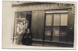 Devanture De MAGASIN - Maison Mignot & Bene - CARTE PHOTO Non Située - Geschäfte