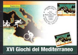 ITALIA - 2009 - GIOCHI DEL MEDITERRANEO A PESCARA - CERIMONIA DI APERTURA - Cartes-Maximum (CM)