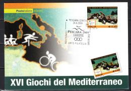ITALIA - 2009 - GIOCHI DEL MEDITERRANEO A PESCARA - Cartes-Maximum (CM)