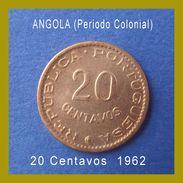 Angola Coins 20 Centavos 1962 Bronze - Angola