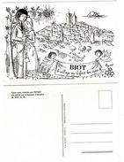 "Carte De  "" BIOT....le Village Où Il Fait Bon Vivre......""  Dessin PEYNET - Peynet"