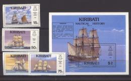 Kiribati  :  Yv  234-37 + Bloc 13  **     Bateau - Boat - Kiribati (1979-...)