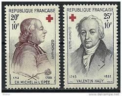 """FR YT 1226 Et 1227 """" La Croix Rouge """" 1959 Neuf** - France"""