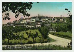 Castiglion Fiorentino (Arezzo) - Panorama - Viaggiata 1959 (acquerellata) - Arezzo