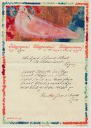 1928 Hochzeits Telegramm Telegramme Telegramma Ligerz - Friedenstaube Von A. Giacometti - Télégraphe