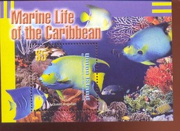 UNION ISLAND   276   0310  MINT NEVER HINGED SOUVENIR SHEET OF FISH-MARINE LIFE  #   1176-2  ( - Peces
