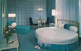 Boise Idaho, Downtowner Motel Interior View Of Bridal Suite Room, C1950s/60s Vintage Postcard - Boise