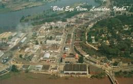 Lewiston Idaho, Aerial View Of Town, Clearwater River, C1960s Vintage Postcard - Lewiston