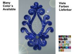 Appliques Sequins Applikationen Pailletten Sew On Embroidery Handmade Ap68 - Other Collections