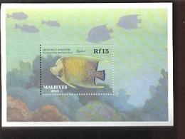 MALDIVES   1343  MINT NEVER HINGED SOUVENIR SHEET OF FISH-MARINE LIFE - Fishes