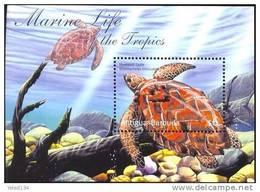 ANTIGUA & BARBUDA   2476 MINT NEVER HINGED SOUVENIR SHEET OF FISH-MARINE LIFE  TURTLES - Fishes