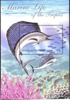 ANTIGUA & BARBUDA   2474  MINT NEVER HINGED SOUVENIR SHEET OF FISH-MARINE LIFE ; SAILFISH - Pesci