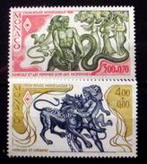 MONACO # B110-B111.  Labors Of Hercules - Winning The Golden Apple & Battling Cerberus.   MNH (**) - Unused Stamps
