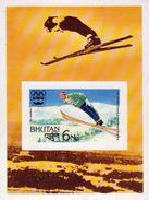 BHUTAN INNSBRUCK WINTER OLYMPICS 6Nu IMPERF SOUVENIR SHEET 1976 MINT/MNH - Invierno 1976: Innsbruck