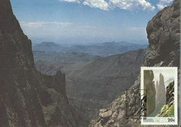 South Africa 1986 Rock Formation 20c Maximum Card - Covers & Documents
