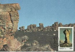South Africa 1986 Rock Formation 25c Maximum Card - Covers & Documents
