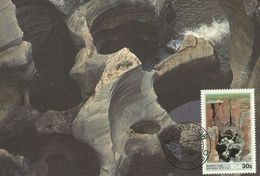 South Africa 1986 Rock Formation 30c Maximum Card - Covers & Documents