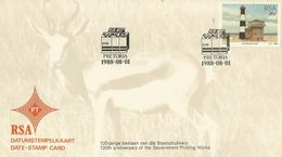 South Africa RSA 1988 Centenary Of Government Printing Souvenir Cover - Covers & Documents