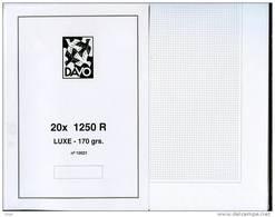 20 FEUILLES BLANCHES QUADRILLAGE GRIS DAVO 1250R - Albums & Reliures