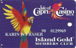 Isle Of Capri Casino - Tunica, MS USA - Slot Card - Casino Cards