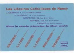 AC - B2680 -  Librairies Catholiques De Nancy ( Non Utilisé) - Buvards, Protège-cahiers Illustrés