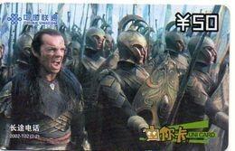 Seigneur  Des Anneaux Film Movie Cinéma  Seigneurs Télécarte Phonecard (S.334) - Chine