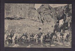 CPA AFRIQUE DU NORD - Chasseurs D'Afrique - Passage D'un Gué - TB PLAN MILITAIRES à Cheval - Regiments
